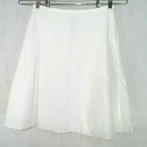 Villager By Liz Claiborne Eyelet A-line Skirt